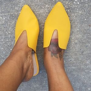 Shoes - Mustard slippers